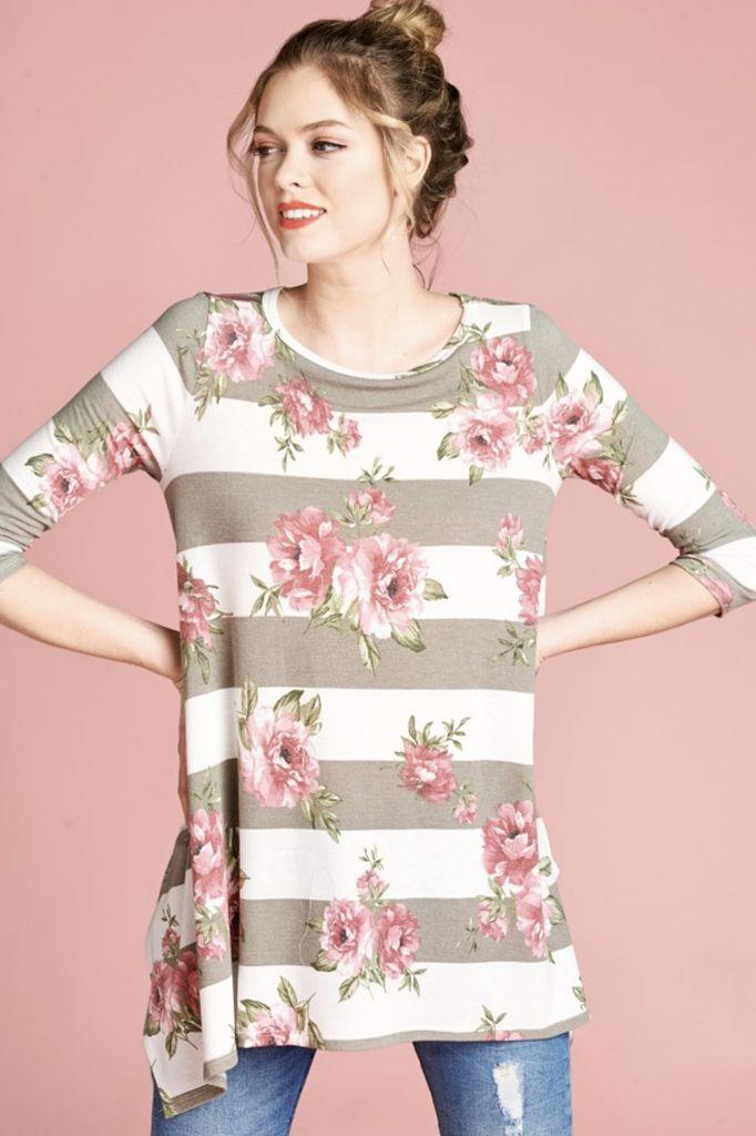Stripes + Roses