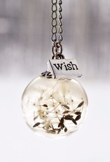 Justine Brooks Dandelion Wish Necklace - 28 in Silver Chain