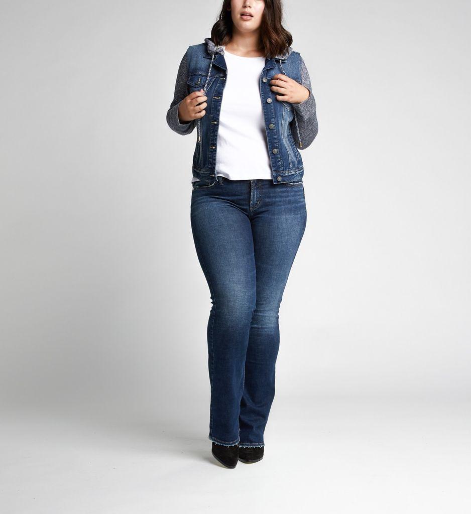Silver Jeans Co Hoodie Jean Jacket