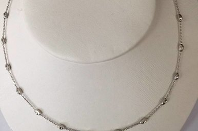 Sterling Silver 'Bead By Inch' Silver Necklace