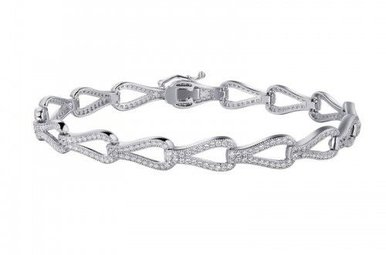 Lafonn 3.52 cttw 352 Stone Art Deco Bracelet