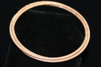 Sterling Rose Stardust 3 Strand Bangle Bracelet
