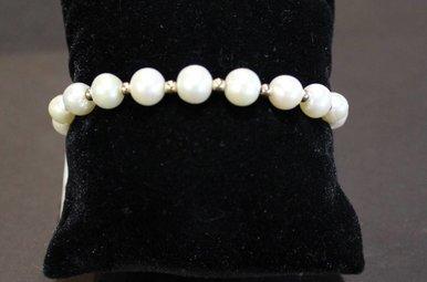 14ky Beaded Fresh Water Pearl Bracelet
