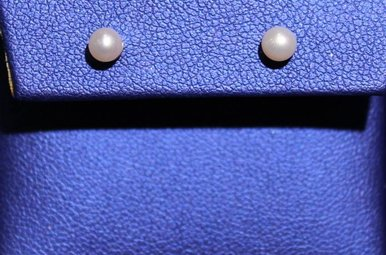 14k Yellow Gold 4mm Pearl Stud Earrings