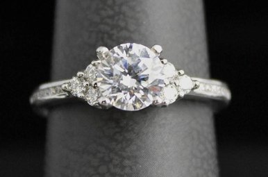 "14k White Gold 1/4cttw Art Carved ""Kayla"" Semi Mount Engagement Ring"