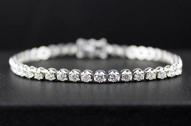 14kw 4.07ctw Diamond Tennis Bracelet