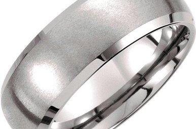 Tungsten 8.3mm Satin/Polished Edge Sz10 TAR251
