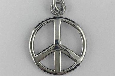 Stainless Steel Peace Symbol Pendant