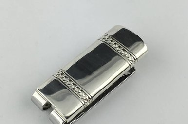 Sterling/Stainless Braided Money Clip