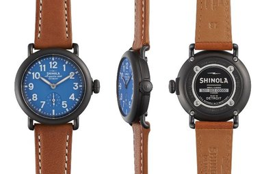 Shinola Runwell 36mm Gunmetal, Tan Beaumont Leather Strap Watch
