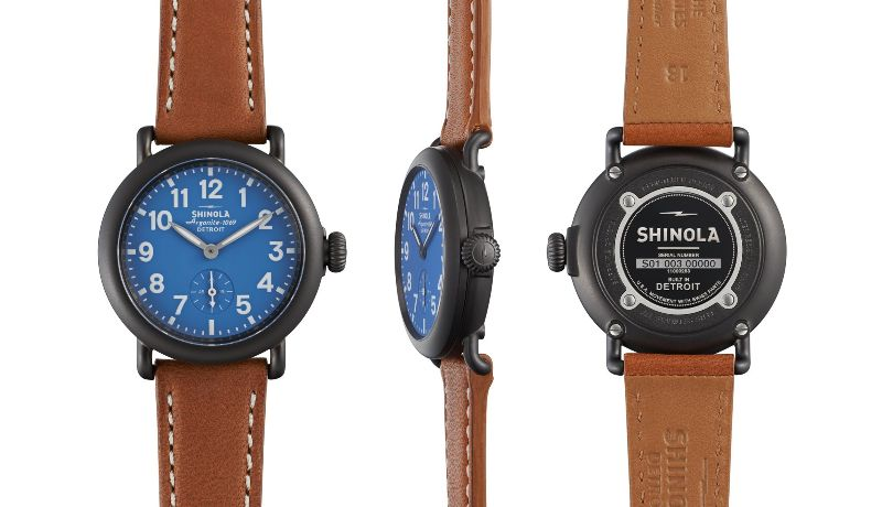 Shinola Runwell 36mm Gunmetal, Tan Beaumont Leather Strap Watch