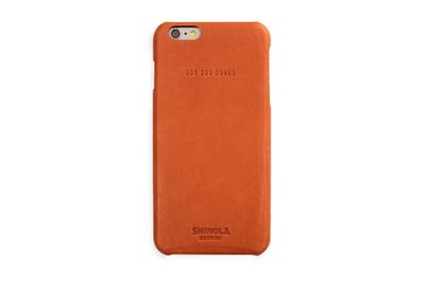 Shinola Leather Wrapped Iphone 6+ Case Color: Bold Orange