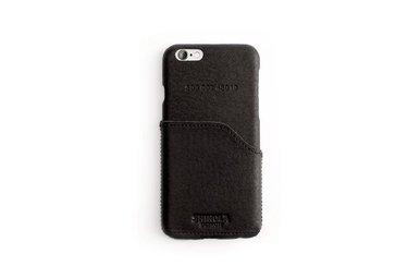 Shinola Leather Wrapped Iphone 6 Case w/ Pocket Color: Black