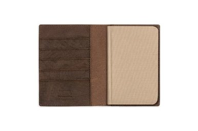 Shinola Leather Small Journal Cover Color: Dark Coffee