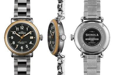 Shinola Runwell Coin Edge 38mm Two Tone Watch