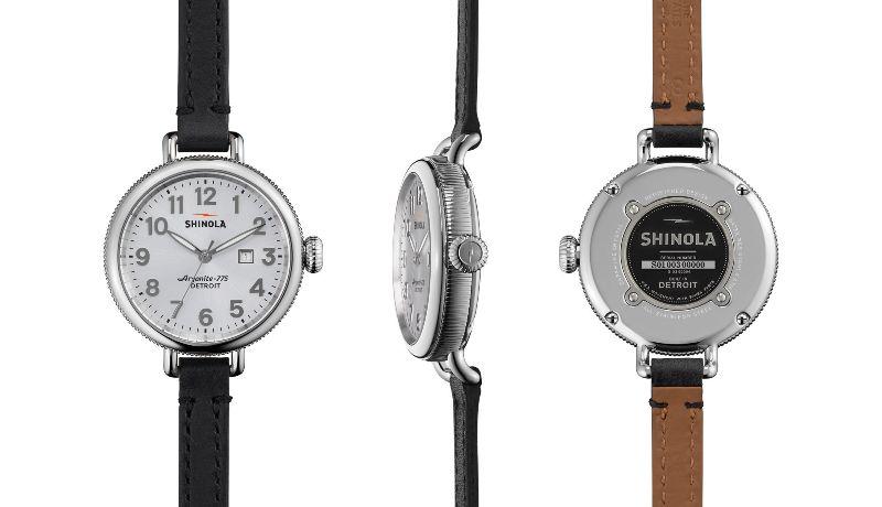 Shinola Birdy 34mm Double Wrap Leather Strap Watch