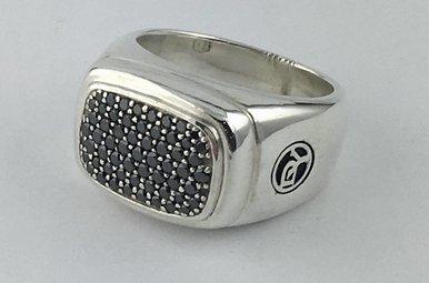 David Yurman Sterling 925 1&1/2ct Black Dia Ring (Sz 9)