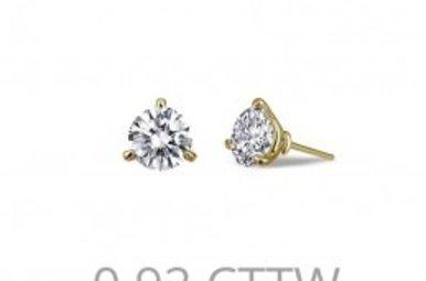 Lafonn .92cttw 2 Stone Stud Earrings