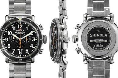 Shinola 48mm Runwell Sport Chrono Stainless Steel Watch
