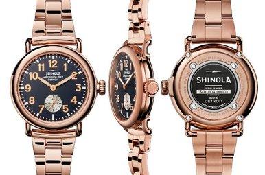 Shinola Runwell 36mm Rose PVD Bracelet Watch