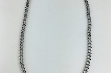 Chisel Stainless Steel Curb Chain Necklace 24""