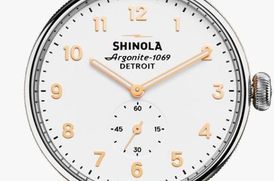 Shinola Canfield 38mm PVD Rose White Dial Watch