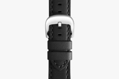 Shinola 22mm Black Leather Watch Strap (120x180mm)