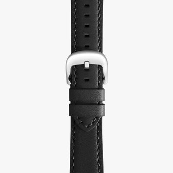 Shinola 22mm Black Leather Watch Strap (120x180mm)