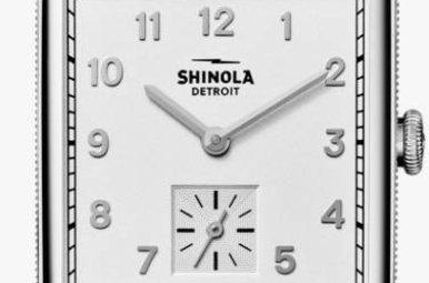 Shinola Cass 28x27mm Milky White Dial Natural Latigo Leather Strap Watch