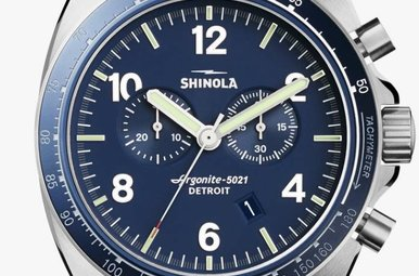 Shinola Rambler 44mm Tachymeter Chronograph Watch
