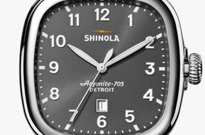 Shinola Guardian 4.15 x 43mm Charcoal Grey Dial, Brown Leather Strap Watch