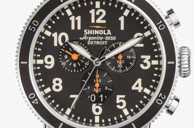Shinola Runwell Sport Chrono 47mm, Matte Black Dial Men's Watch