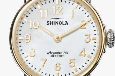 Shinola Runwell Two-Tone 28mm, White MOP Dial Watch