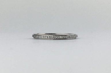 14k White Gold .25ctw Diamond Eternity Stackable Wedding Band Ring