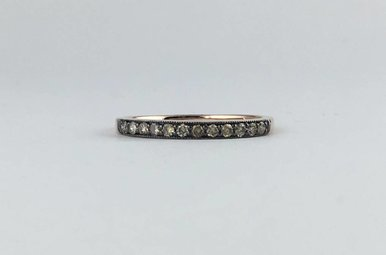 14k Rose Gold .24ctw Chocolate Diamond Stackable Band Ring
