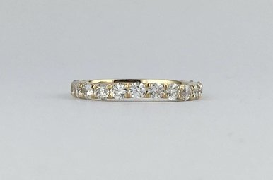 14k Yellow Gold 1ctw Diamond Stackable Wedding Band Ring (Size 7)