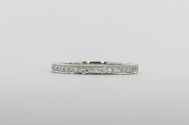 PLAT .43CTW TACORI ETERNITY DANTELA STACKABLE LADIES WEDDING BAND WITH ROUND BRILLIANTS