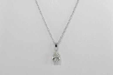 14KW 1/2CT PEAR SHAPED DIAMOND SOLITAIRE PENDANT