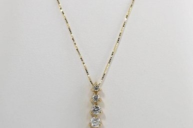 14KY 1/2CTW DIAMOND JOURNEY PENDANT