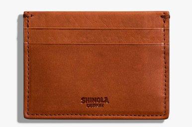 Shinola 5 Pocket Card Case Bourbon Leather