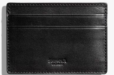 Shinola 6 Pocket Card Case Black Bridle
