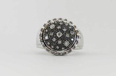 SS .50CTW PAVE' DIAMOND LADIES FASHION RING
