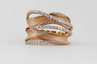 14KR .63CTW LADIES DIAMOND FASHION RING