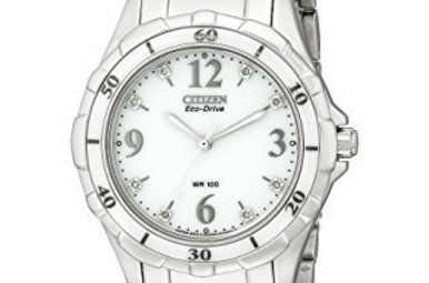 Citizen Ceramic Eco-Drive Dia White Dial Ladies Watch