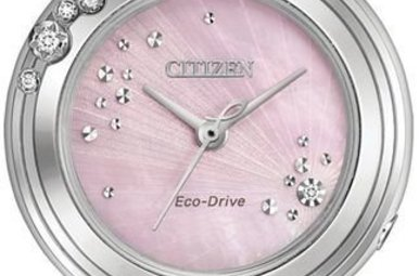 Citizen L Carina Pink Diamond/Silver Stainless Ladies Watch
