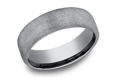 EUCF565070GTA GREY TANTALUM 6.5MM BENCHMARK WEDDING BAND SIZE 10