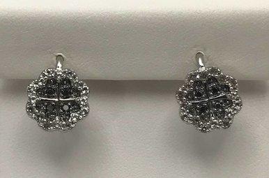 Sterling Silver & .71ctw Dia Earrings
