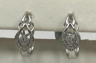 Sterling Silver 1/4ctw Diamond Earrings