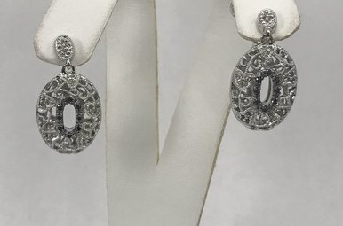 Sterling Silver .34ctw Diamond Earrings