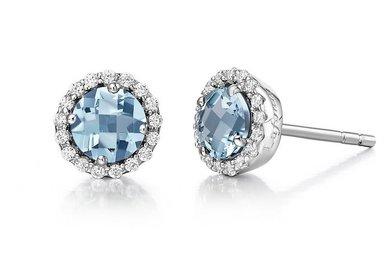 Lafonn Aquamarine Birthstone Earrings